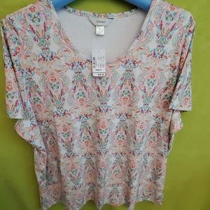 NWT Cjbanks colored eyelet overlay with lining top